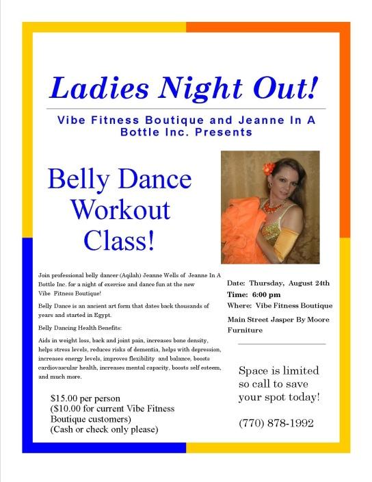 belly dance class flier vibe