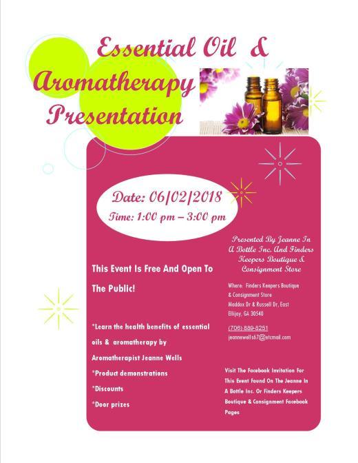 Essential Oils & Aromatherapy Presentation